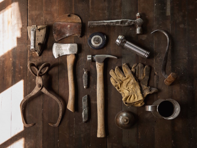 tools on a table
