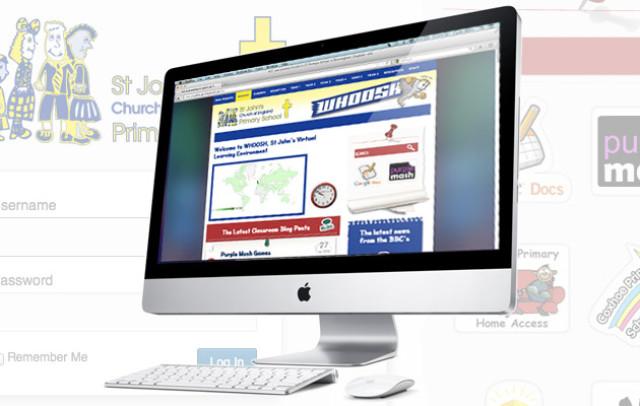 St John Primary School website and VLE