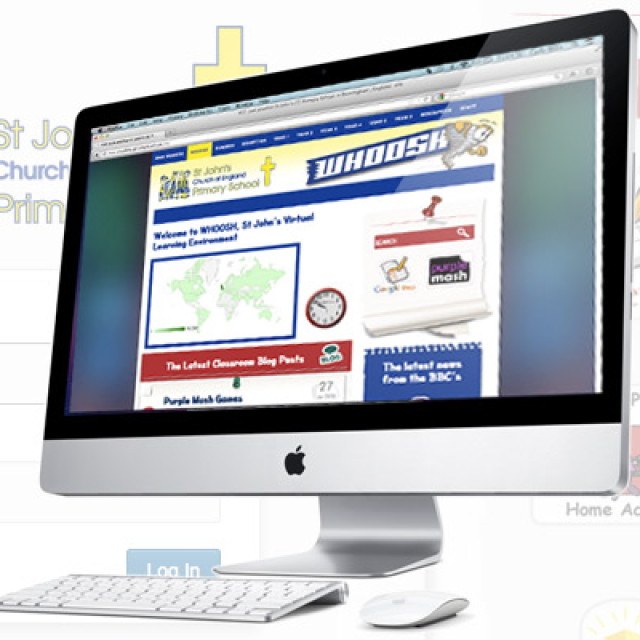 St John Primary School website and VLE